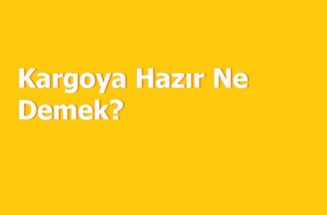 Photo of Kargoya Hazır Ne Demek?