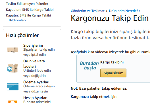 Amazon Kargo Takip Nasıl Yapılır?