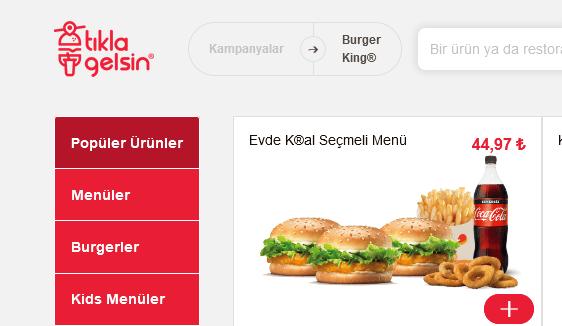 Burger King Tıkla Gelsin